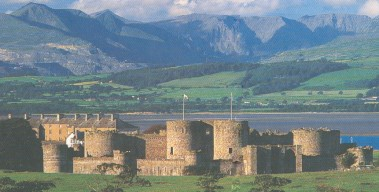Beaumaris Castle and Snowdonia